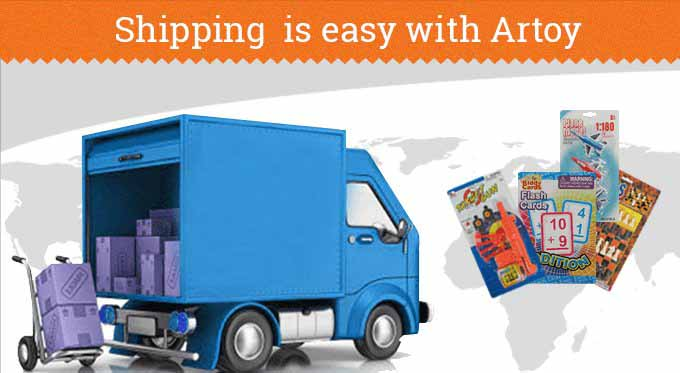 Shipping Info for Wholesale Toys from Artoy Trading
